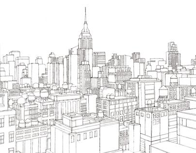 Line Drawings for LOreal Redken for Men