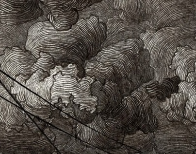 And Another Storm, 3 x 6 in, Pen and Ink, 2013