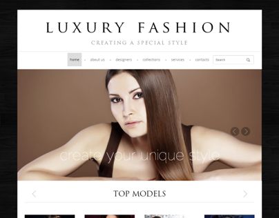 Luxury Fashion Creating A Special Style Bootstrap Templ