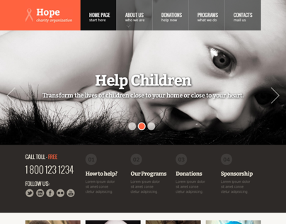 Hope Children Charity Organization Bootstrap Template