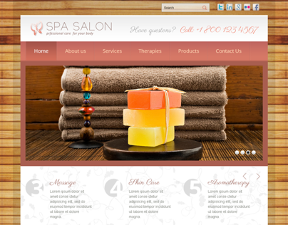 Professional Care Spa Salon Bootstrap HTML Template