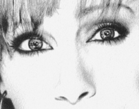 Reba McEntire Pencil Illustration