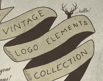The Vintage Logo Elements Collection