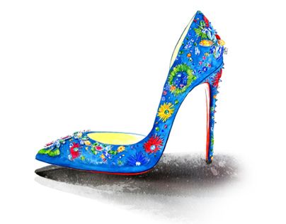 Shoe Illustrations for Milk X online Magazine