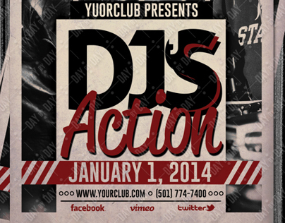 DJs Action Flyer