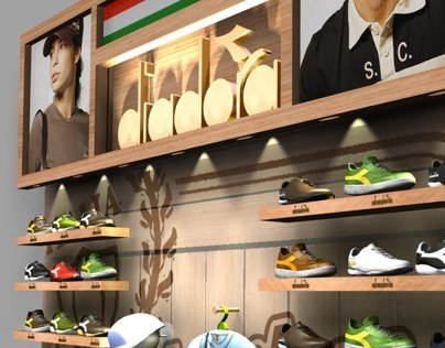 Special merchandise for Diadora in Brazil