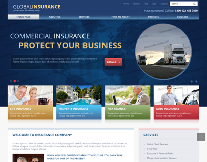 Global Insurance Protect Your Life Today Bootstrap Temp