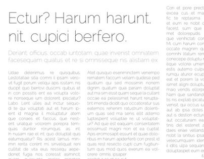 Sample Typographic Layouts