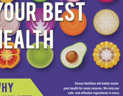 Sirona Nutrition Landing Page Design