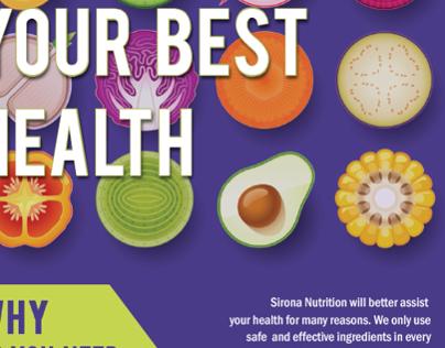 Sirona Nutrition Landing Page Design