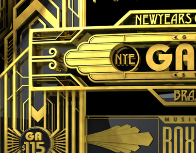 New years party graphic