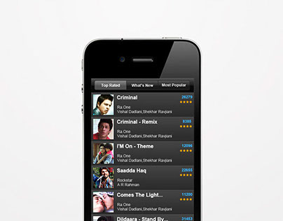 Hungama HotPicks (Mockup)