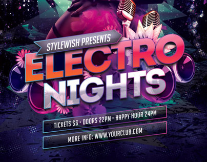 Electro Nights Flyer