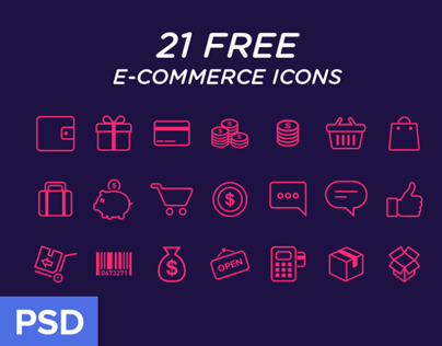 e-commerce Icons freebie