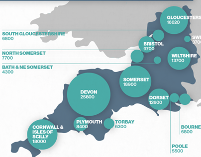 Skills for Care - South West Infographic