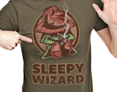 SLEEPY WIZARD - T-shirt Design