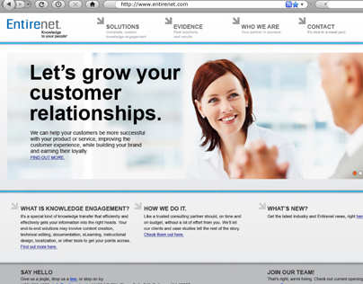 Entirenet - Rebranding and webdesign