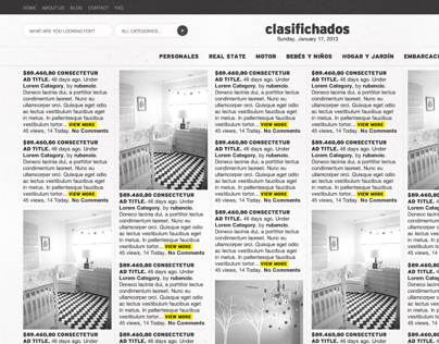 clasifichados v4 (classified ads) website