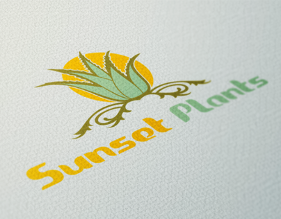 ''Sunset Plants'' Logo Design