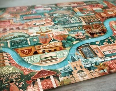 Illustration- Londons Great Little Places