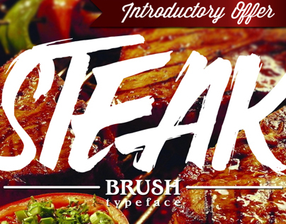 Steak Brush Typeface