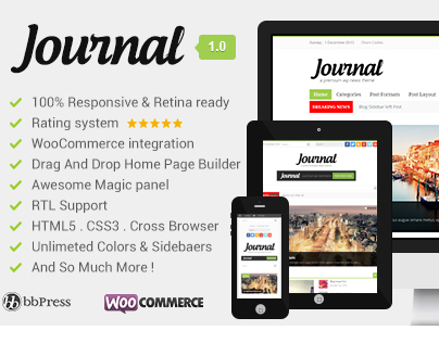 Journal Clean, Responsive WP Magazine