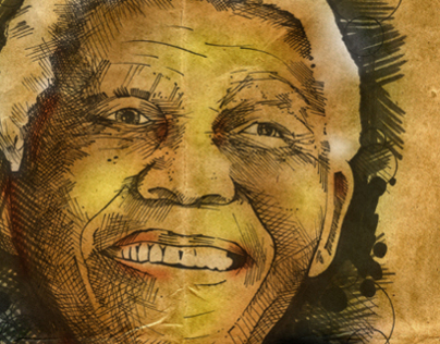 Nelson Mandela Editorial Portrait