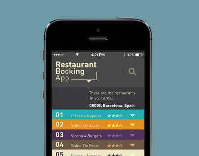 Restaurant Booking App // UX