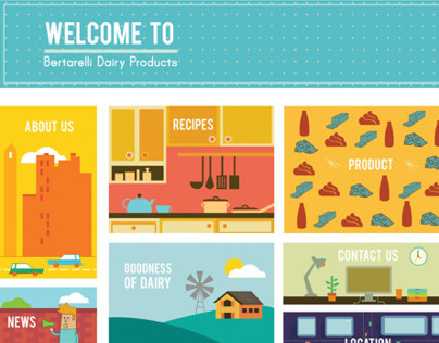 Bertarelli Dairy Products Website