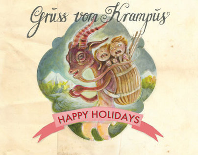 Krampus Christmas Card