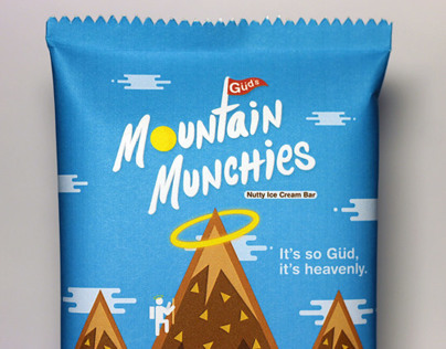 Güds Mountain Munchies Ice Cream Bar ~ Package Design