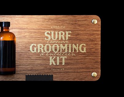 Surf Grooming Kit - Product identity & packaging