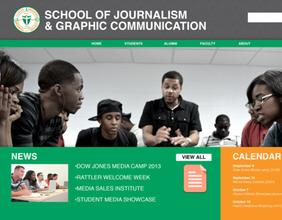 FAMU SJGC Website Re-Brand