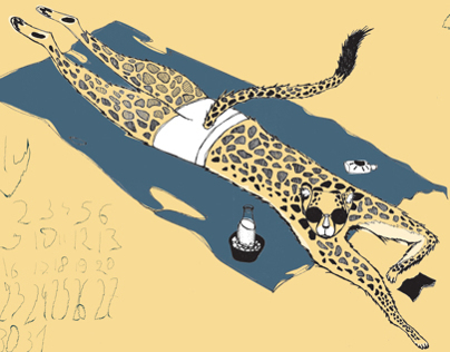 Guepard on holiday