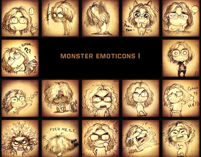 MONSTER EMOTICONS