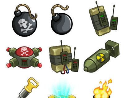 Icons for digger game