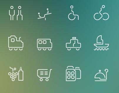 icon set - Braila city