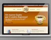 Web Design - Espresso 59 for VG59* s.r.l.