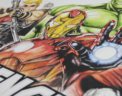 AVENGERS (Watercolor)