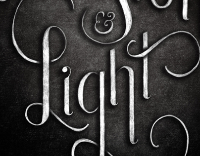 Illusions & Light Book Cover Lettering
