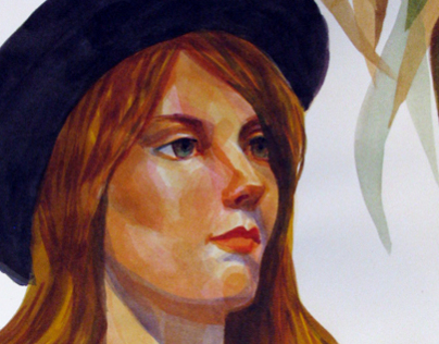 Watercolor Portraits with California Art Club