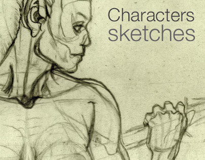 Characters pencil sketches