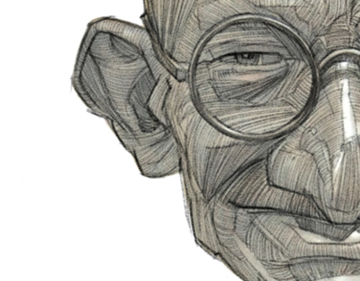 Gandhi illustration Portrait