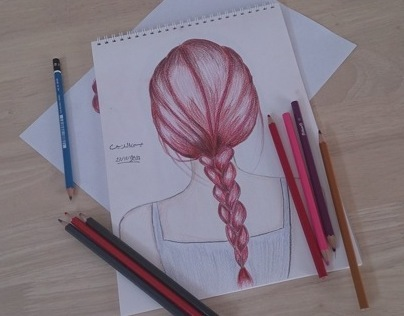 Free Hand Hair drwing