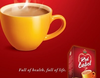 Red label healthy tea