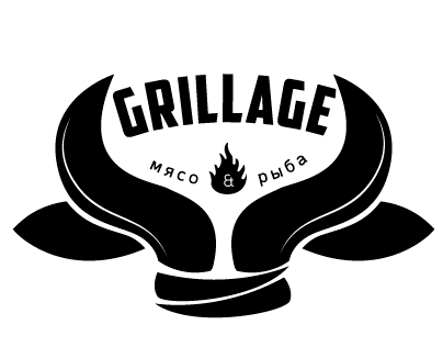 Grillage meat & fish: grill restaurant logos