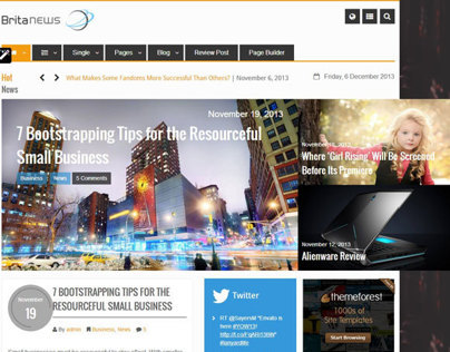 BritaNews WordPress Theme