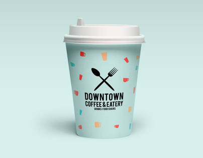Downtown Coffee & Eatery Logo Case Study