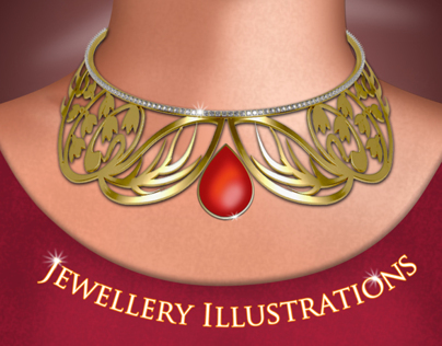 Collar Necklace Illustration