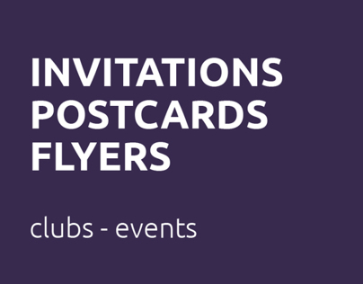 Invitations | Postcards | Flyers